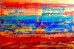 Sunset at the Beach 90x100cm ACRYL *VERKAUFT*